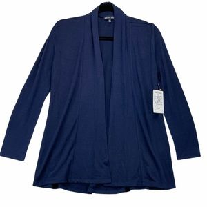 Olivia Blue Navy Open Front Cardigan NWT